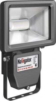 Светодиодный прожектор Navigator 94627 NFL-P-10-4K-WH-IP65-LED белый (аналог ИО 100 Вт)