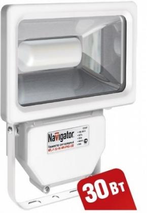 Светодиодный прожектор Navigator 94629 NFL-P-30-4K-WH-IP65-LED белый (аналог ИО 300 Вт)