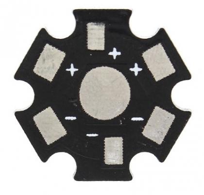 """Плата радиатор типа """"звезда"""" для светодиодов 1-3 Вт."""