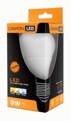 Лампа светодиодная CANYON A60 E27 9W 220-240V 300° 880 lm 4000K, Ra>80 матовая колба