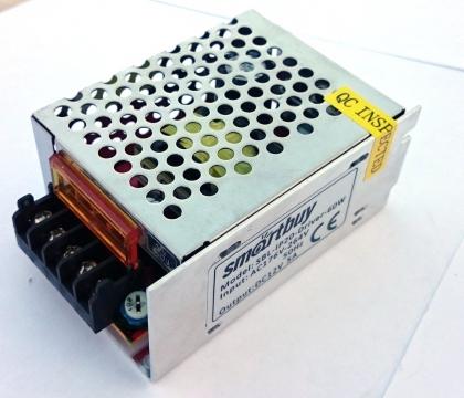 Блок питания драйвер светодиодной ленты Smartbuy 60Вт. 12 В 5А IP20