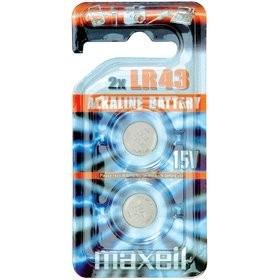 Батарейка MAXELL LR-43 (1142, 386, G12) BL 2/20