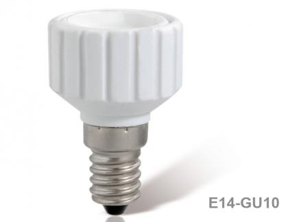 Патрон-переходник Е14-GU10 белый ТДМ керамика