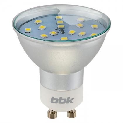 Светодиодная лампа BBK PAR16 P324C 3.2W 4500K 300 лм. GU10